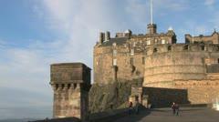 Edinburgh Castle Esplanade Stock Footage