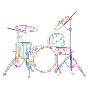 Drums kit Stock Illustration