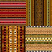 Decorative african patterns Stock Illustration