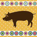 Stock Illustration of retro pig