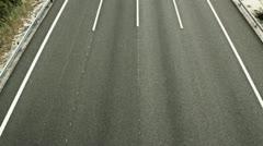 coches pasan efecto - stock footage