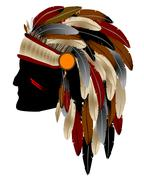 Native american indian Stock Illustration