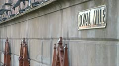 Royal Mile Street Sign Stock Footage