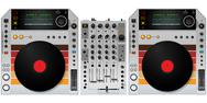 Stock Illustration of dj turntables and mixer