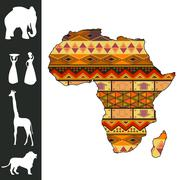 Africa design Stock Illustration
