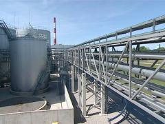 biodiesel rapeoil factory - stock footage