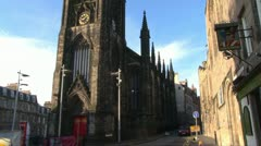 Royal Mile Castle Hill Stock Footage
