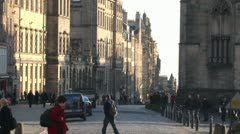 Edinburgh Royal Mile Stock Footage