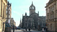 St Giles Cathedral Stock Footage