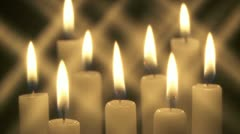 Candle group w s 01 Stock Footage