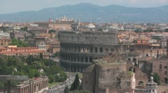 Rome Skyline with Colosseum Stock Footage