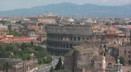 Stock Video Footage of Rome Skyline with Colosseum