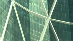 Office tower, the Bow, Downtown Calgary, zoom Stock Footage
