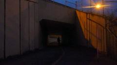Night Skateboarder 1 Stock Footage
