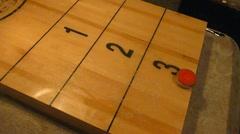 Shuffleboard Game 3 Stock Footage