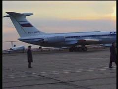Aeroflot aircraft USSR runway  Soviet Airport Stock Footage
