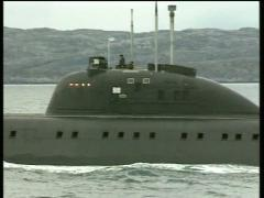 Russian Nuclear Submarine - stock footage