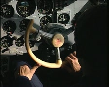 Interior cockpit MiG 29 fighter plane | military airplane cabin Stock Footage