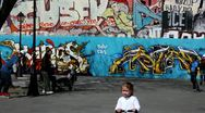 Graffiti Wall Stock Footage