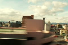 Japan - Country and city from a train Stock Footage