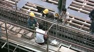 Stock Video Footage of Payday at construction site in China