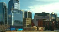 Stock Video Footage of Calgary skyline partial early spring