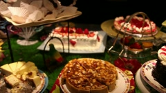Dessert  buffet Stock Footage