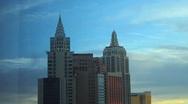 New York New York Las Vegas Time Lapse Stock Footage