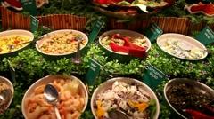Salad buffet Stock Footage