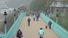 Victorian Style Footbridge Stock Footage