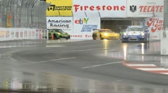 ALMS Toyota Grand Prix of Long Beach Street Circuit 2012 - 45 Stock Footage