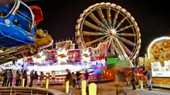 Funfair with Emergency Stock Footage