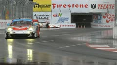 ALMS Toyota Grand Prix of Long Beach Street Circuit 2012 - 105 - stock footage