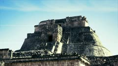 Uxmal mayan ruins mexico Stock Footage