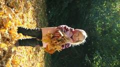 autumn girl - stock footage