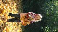 Autumn girl Stock Footage