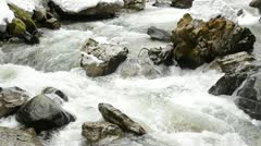 river in the winter - stock footage