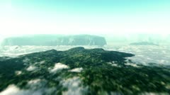 Mountain fly over Stock Footage