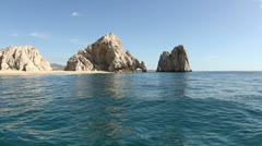 El arco los cabos lands end beach baja california sur Stock Footage