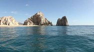 Stock Video Footage of el arco los cbos lands end beach baja california sur