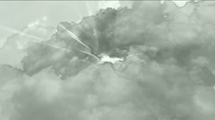 Storm clouds mist gas smoke,thunder lightning haze sky,atmosphere background. Stock Footage