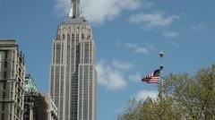 Empire State Building Manhattan New York City NY NYC 24P Stock Footage