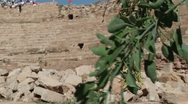 Stock Video Footage of The Amphitheatre in Leptis Magna, Libya