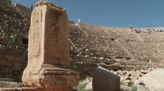 The Amphitheatre in Leptis Magna, Libya Stock Footage
