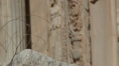 The Arch of Septimius Severus in Leptis Magna, Libya Stock Footage