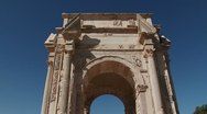 Stock Video Footage of The Arch of Septimius Severus in Leptis Magna, Libya