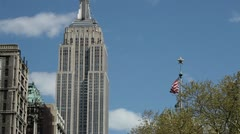 Empire State Building Manhattan New York City NY NYC Stock Footage