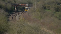 Local passenger train coming through the cherwell valley Stock Footage