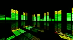 "Concert Stage 3D Sound graphic equalizer (series 3 version 15 )""Think Different"" - stock footage"