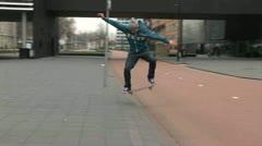 Skateboarding - stock footage